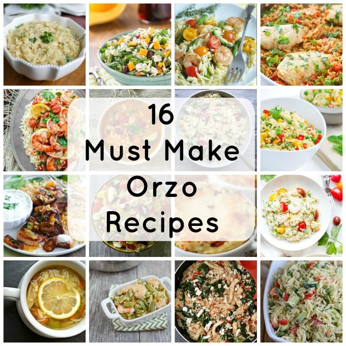 16 Must Make Orzo Recipes- so good