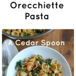 One Pot Kale Broccoli Chickpea Orecchiette Pasta Image