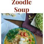 Thai Coconut Zoodle Soup Collage