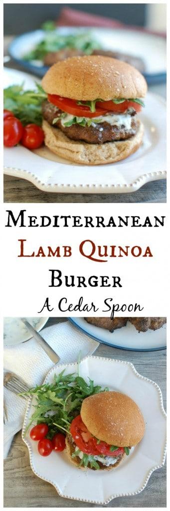Mediterranean Lamb Quinoa Burger - game day food