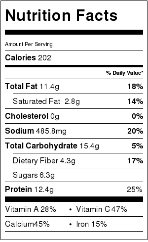 Thai Coconut Zoodle Soup - nutritional information