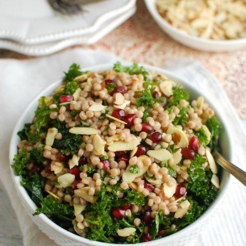 Kale Couscous Pomegranate Salad - salad