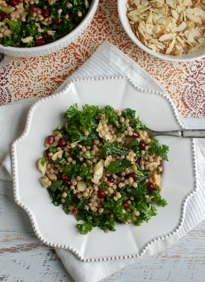 Kale Couscous Pomegranate Salad - packed with flavor