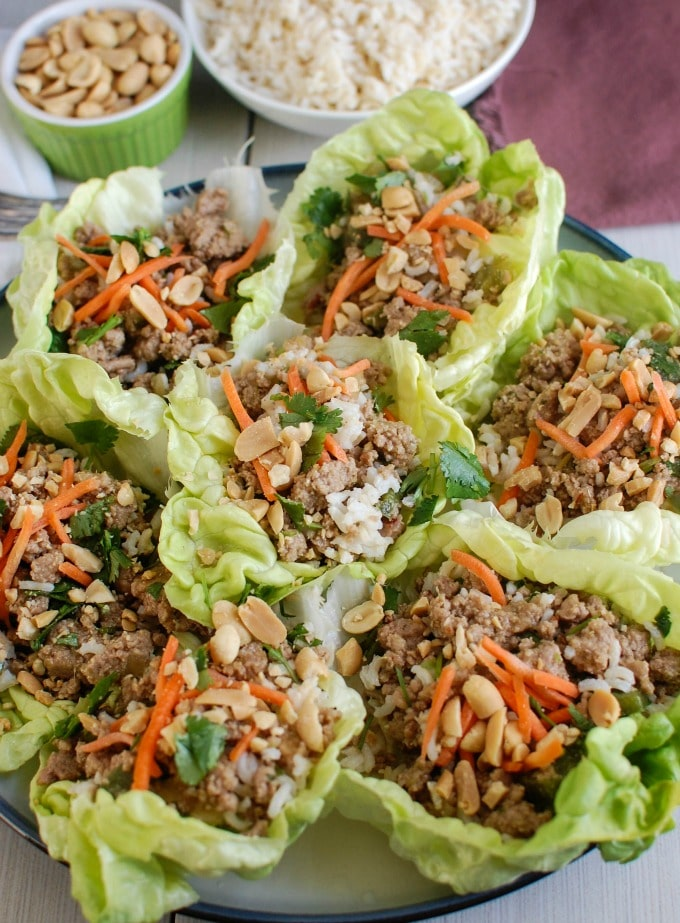 Thai Turkey Brown Rice Lettuce Wraps - so good