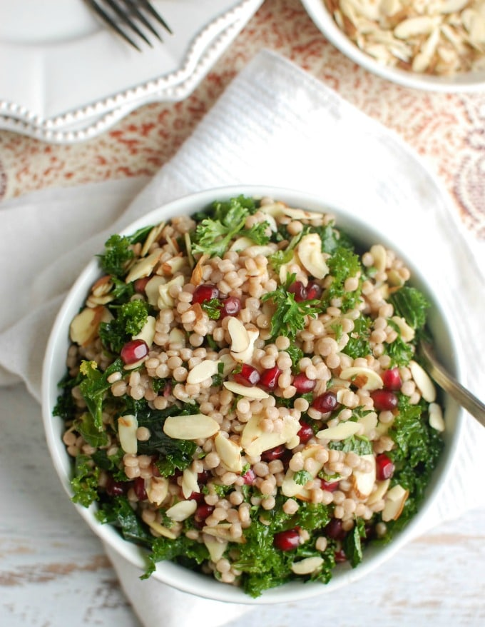Kale Couscous Pomegranate Salad - the best salad