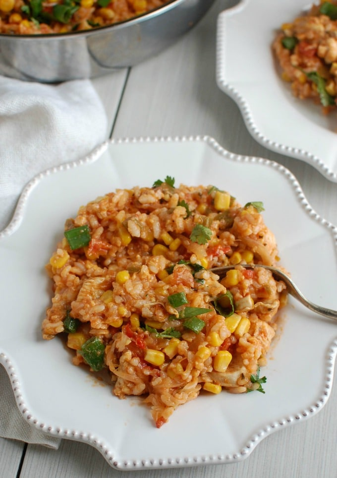 Southwestern Chicken and Rice - easy dinner