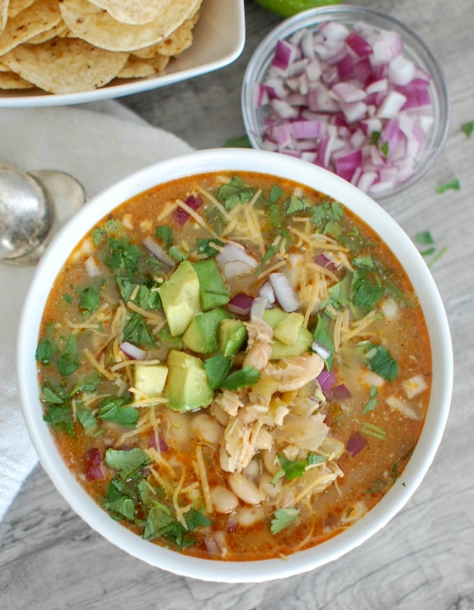 Slow Cooker White Chicken Chili - so good
