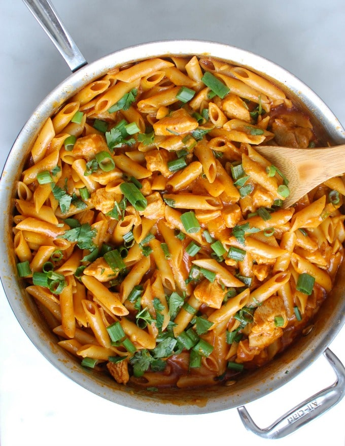 One Pot Chicken Enchilada Pasta - so good