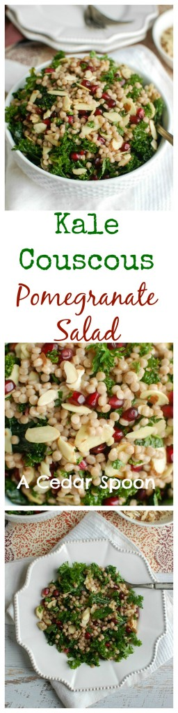 Kale Couscous Pomegranate Salad - easy to make