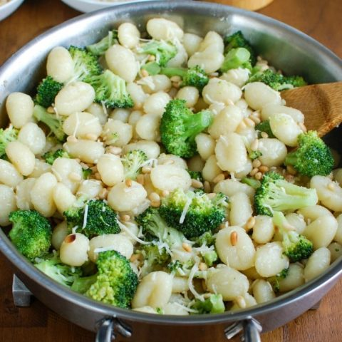 Butter Gnocchi with Broccoli and Pine Nuts - delicious