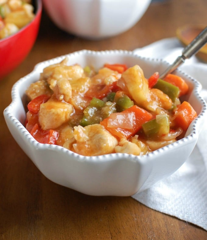 Lighter Sweet and Sour Chicken - simple dinner