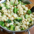 Browned Butter Gnocchi with Broccoli and Pine Nuts - a quick dinner
