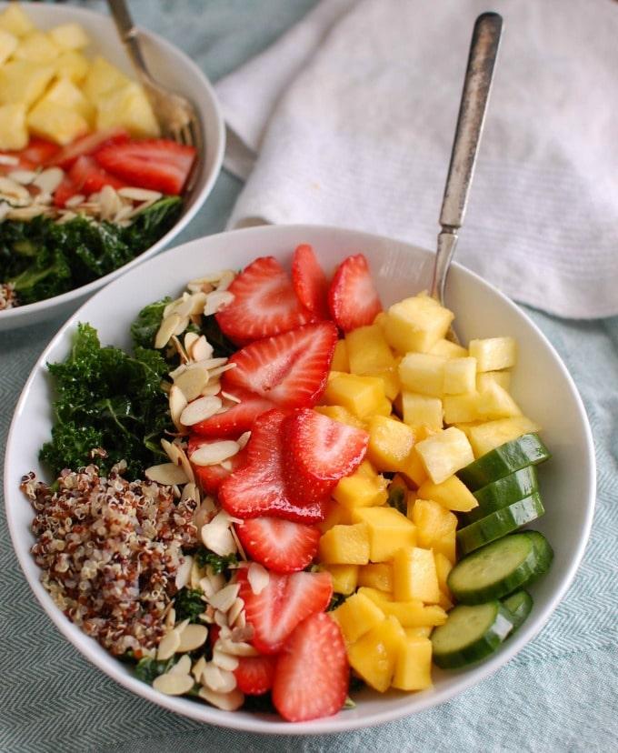 Tropical Kale Quinoa Salad - lunch