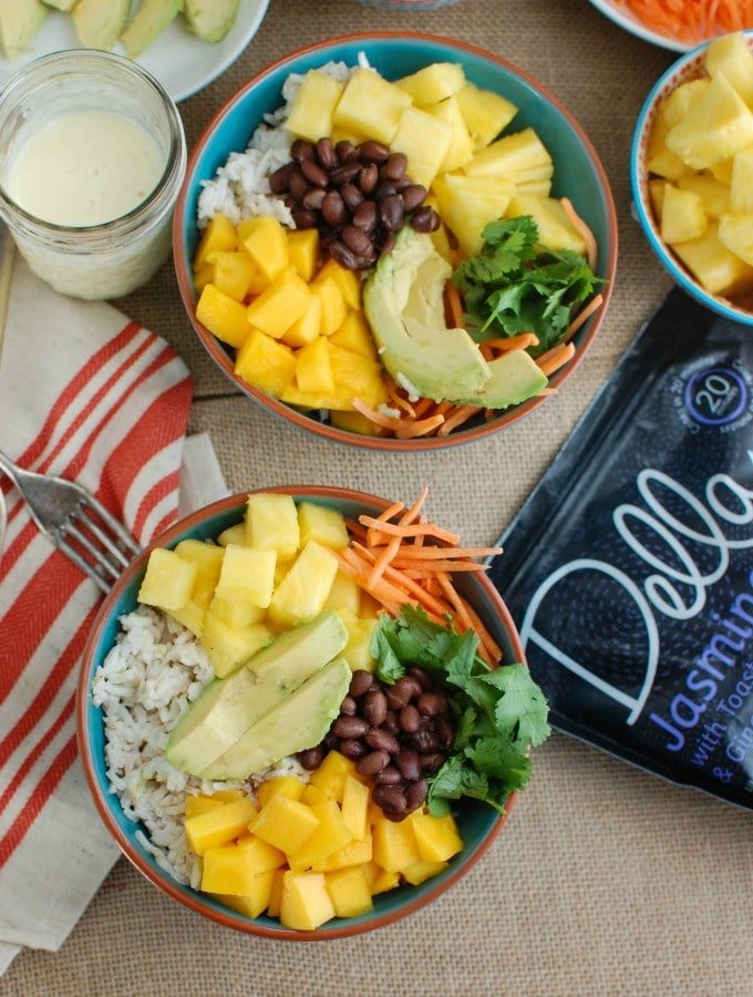 Tropical Coconut Rice Bowl - tropical deliciousness