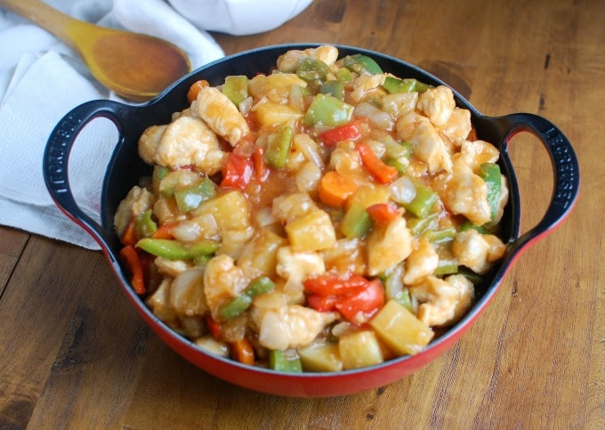 Lighter Sweet and Sour Chicken - forget take-out