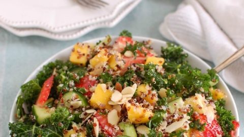 Tropical Kale Quinoa Salad - healthy salad
