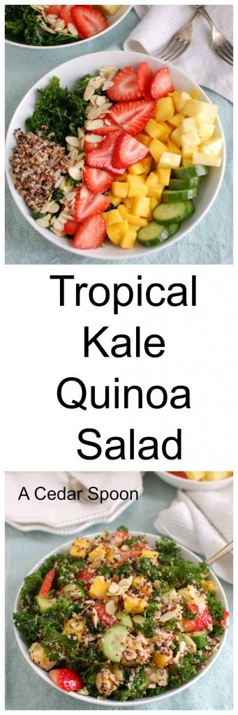 Tropical Kale Quinoa Salad  - lunch is great