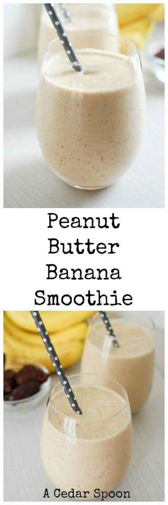 4 Ingredient Peanut Butter Banana Smoothie - so good