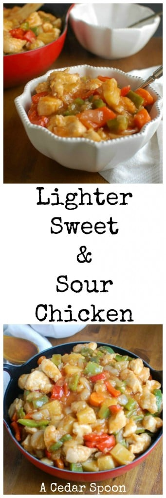 Lighter Sweet and Sour Chicken - my favorite