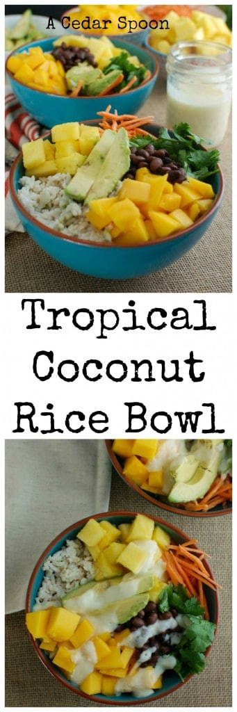 Tropical Coconut Rice Bowl - the best lunch