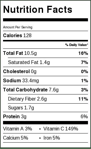 Simple Roasted Broccoli - nutritional ingredients
