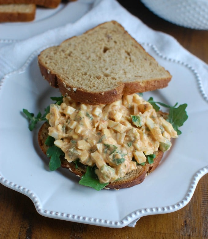 Sweet Southern-Style Egg Salad - sandwich style