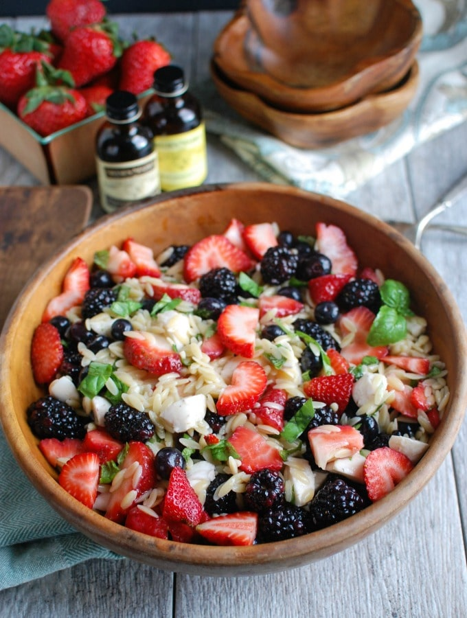 Mixed Berry Caprese Salad - bright and fresh
