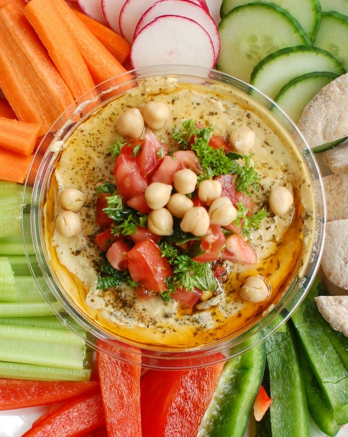 Lebanese Style Hummus - snacking