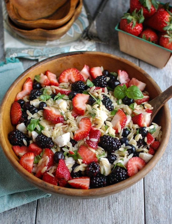 Mixed Berry Caprese Salad - the perfect summer salad