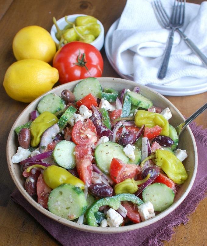 Greek Village Salad - healthy