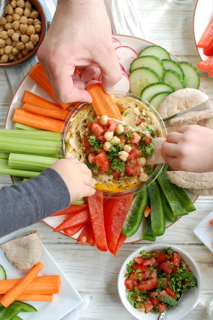 Lebanese Style Hummus - healthy appetizer