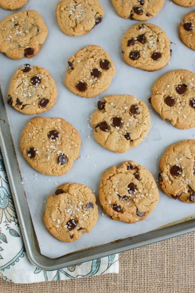 Sea Salt Chocolate Chip Cookies - sweet meets salty