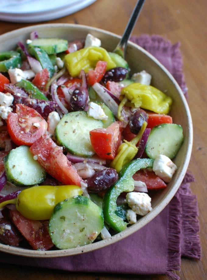 Village Greek Salad - lunch