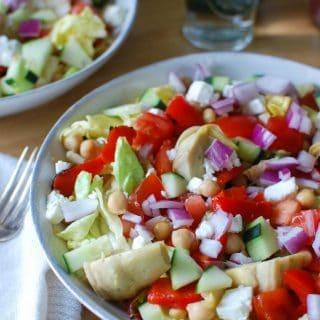 Mediterranean Chickpea Vegetable Salad
