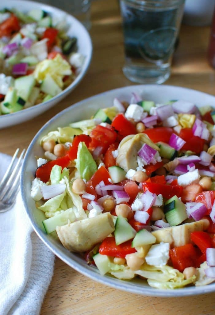 Mediterranean Chickpea Vegetable Salad - lunch