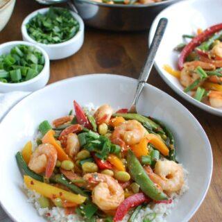 Asian Shrimp Edamame Stir-Fry
