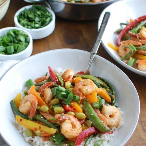Asian Shrimp Edamame Stir-Fry - dinner