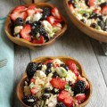 Mixed Berry Caprese Orzo Salad - perfect for summer