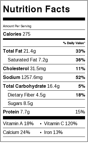 Greek Village Salad - nutritional information
