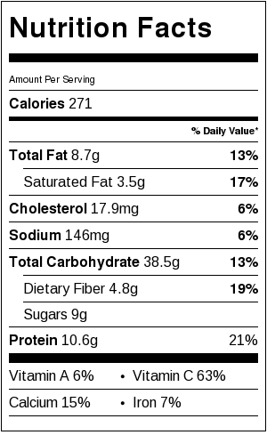 Mixed Berry Caprese Orzo Salad- nutritional information