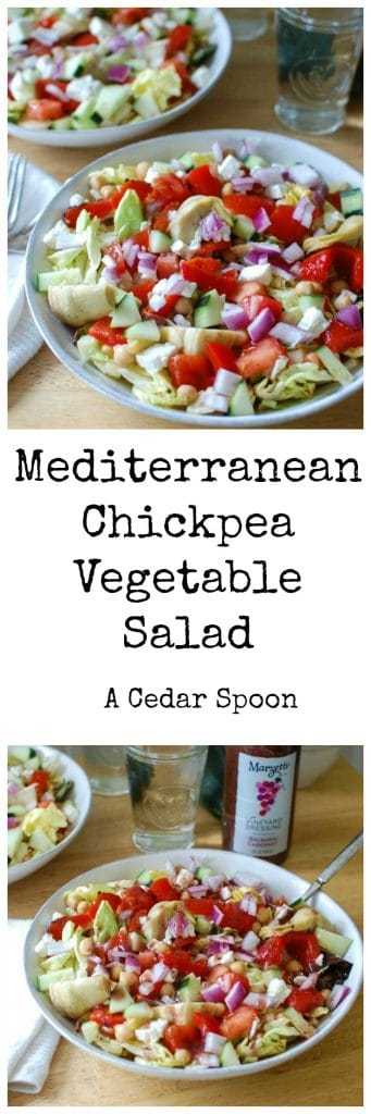 Mediterranean Chickpea Vegetable Salad - the best