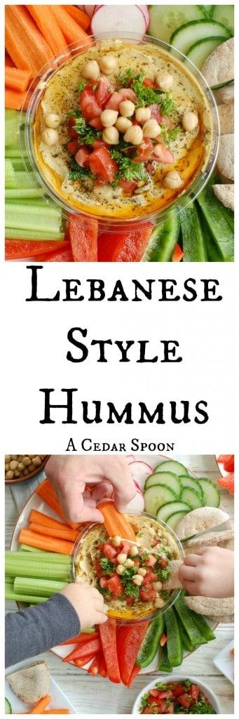 Lebanese Style Hummus - pre-dinner snack