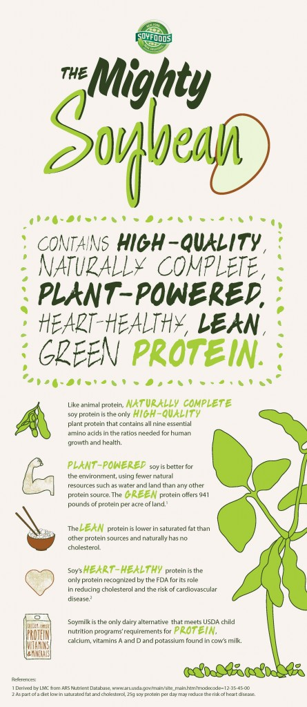 Soy Protein Infographic - soyfood month