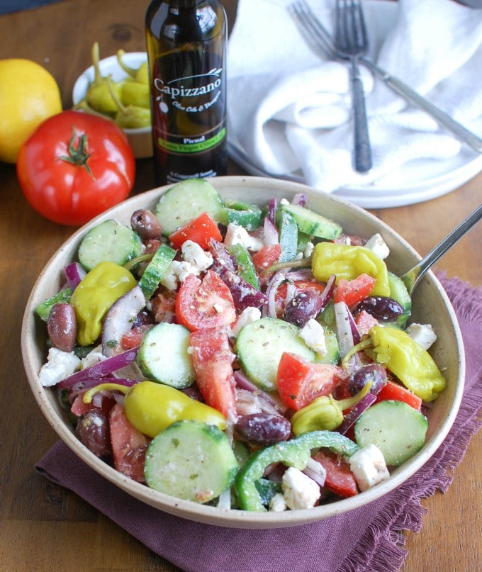 Greek Village Salad - escape to Greece
