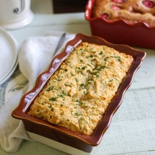 Easy Quick Bread Two Ways: Strawberry Banana and Cheddar Chive