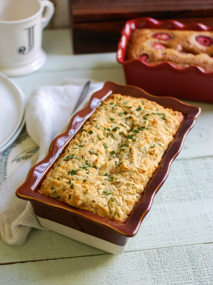 Easy Quick Bread Two Ways: Strawberry Banana and Cheddar Chive - A ...
