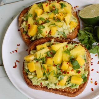Tropical Avocado Toast - breakfast