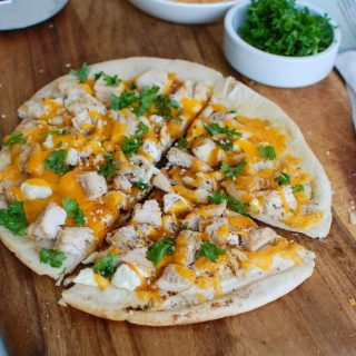 Chicken Feta Cheddar Pita Pitza