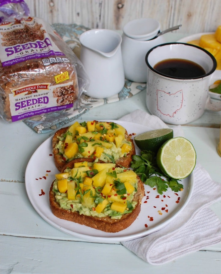 Tropical Avocado Toast - snack