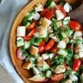 Caprese Panzanella is the perfect summer salad.